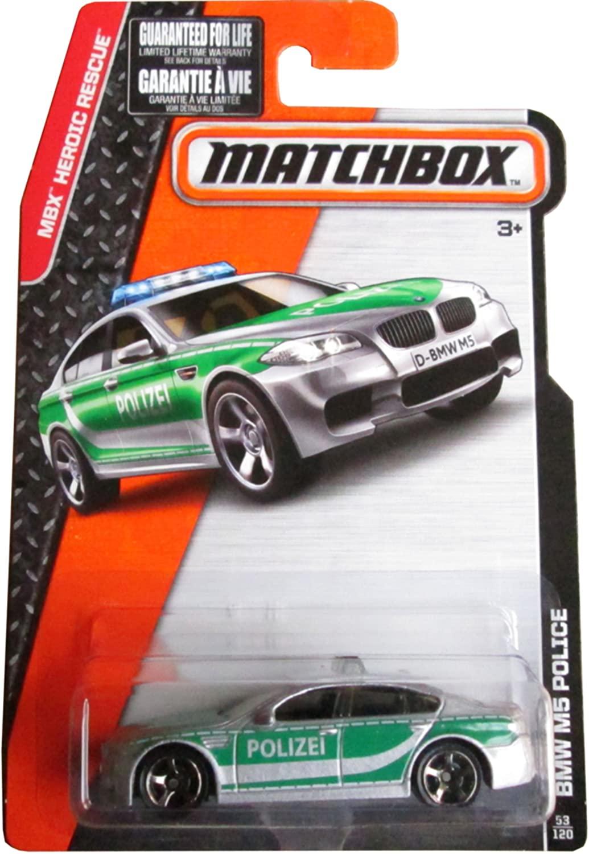 Matchbox 2015 MBX Heroic Rescue BMW M5 Police Car 53/120, Gray