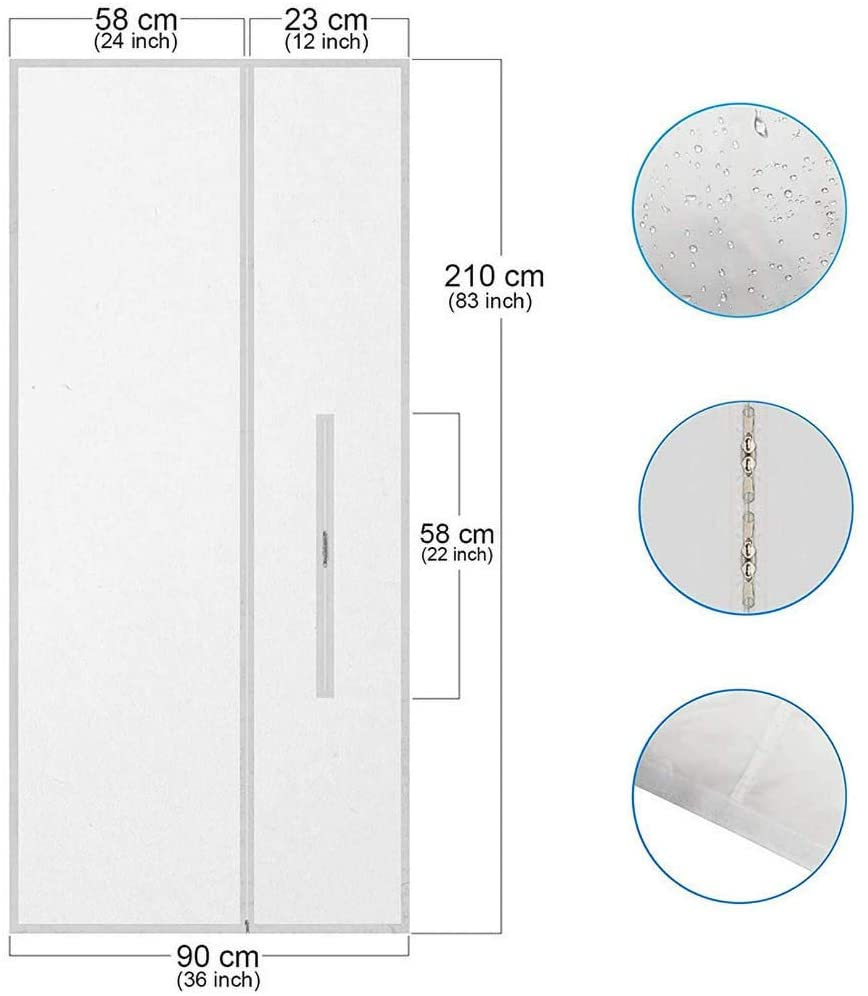 BOLUOYI 2PCS Mobile air Conditioner Soft Cloth Sealing Baffle Airlock Window Sealing for Mobile Air Conditioners and Exhaust Air Dryers (A, 300 cm)