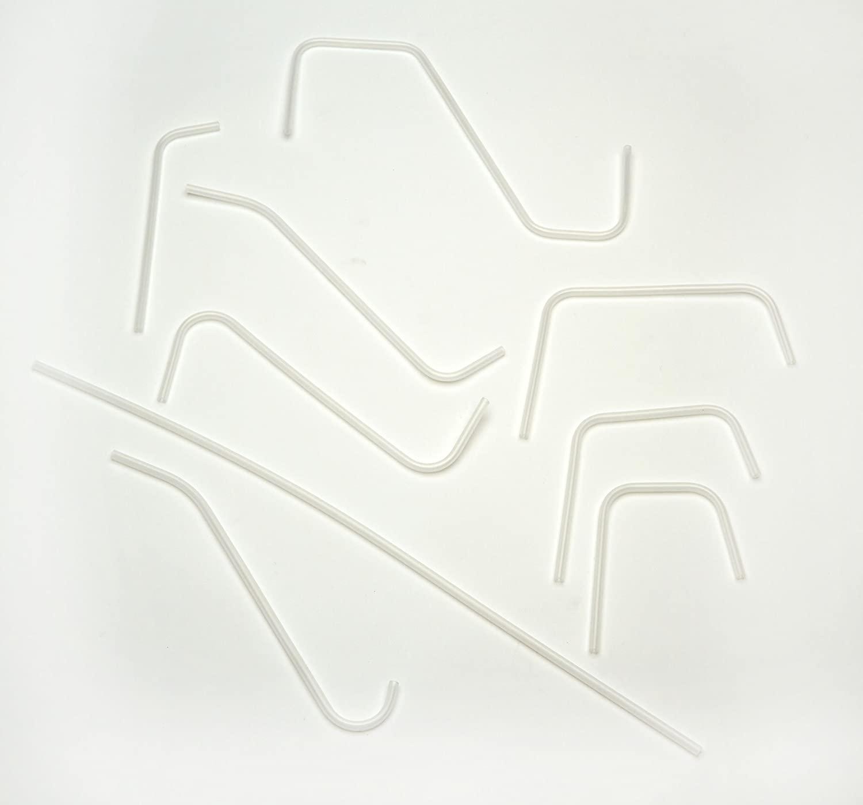 AZLON DT004 Plastic, Straight Delivery Tube, 500 mm (Pack of 5)