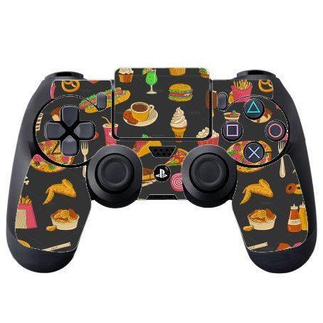 Fun Food Wallpaper Fun Fast Food Vinyl Decal Sticker Skin by Debbies Designs for PS4 DualShock4 Controller