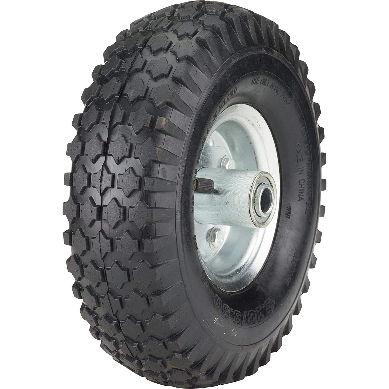 Ironton 10in. Pneumatic Wheel and Tire- 300-Lb. Capacity, Knobby Tread