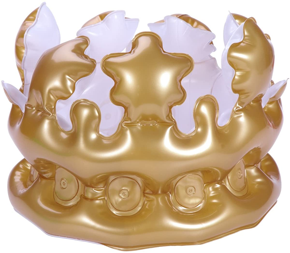 NUOLUX Inflatable Crown Inflatable Blow up Toy Party Favor Kids Gift Gold