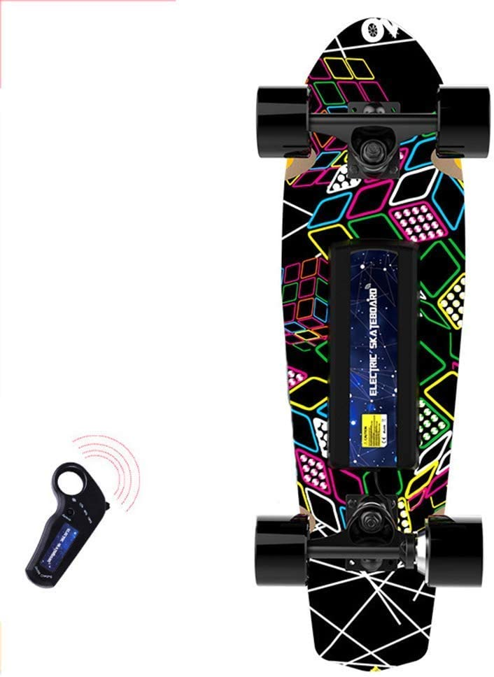 QX Scooter Electric Four-Wheeled Skateboard Smart Dual-Drive Wireless Remote Control Skateboard Light Scooter,C