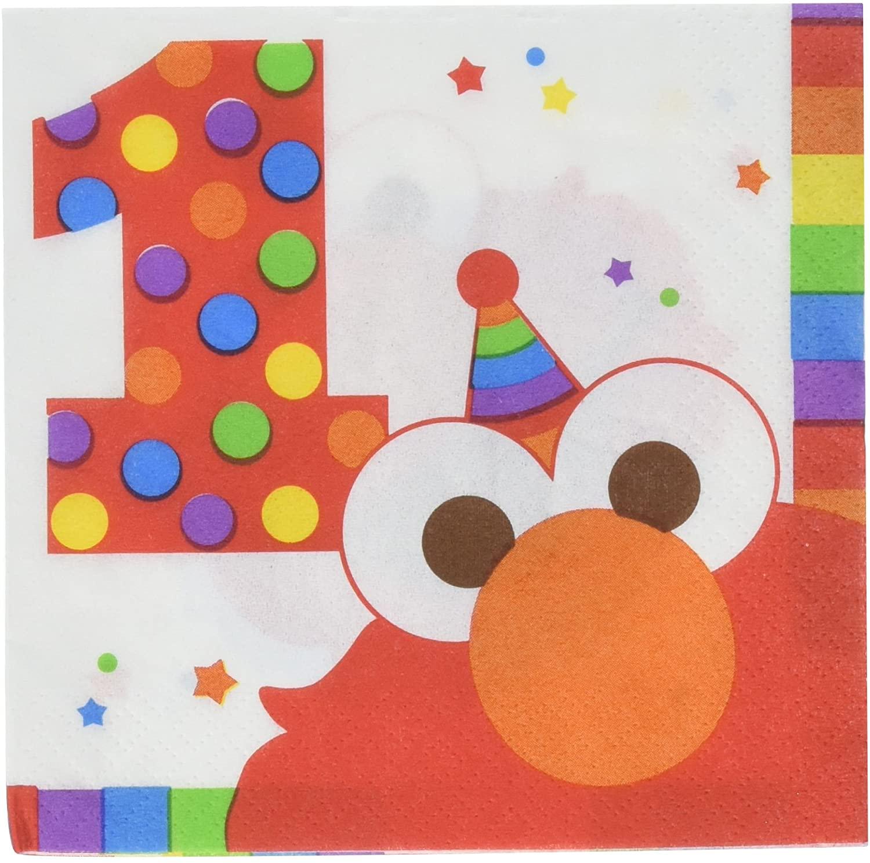 Elmo 1st Birthday Napkins