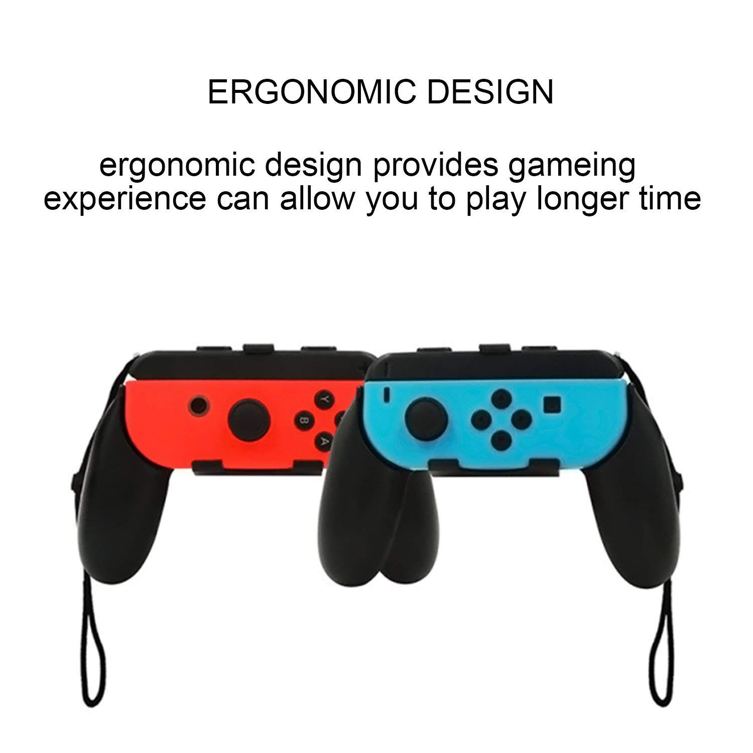 Nintendo Switch Joy-Con Grip, Zikke (Set of 2) Joy-Con multi-colour Hand Grips for Nintendo Switch Controller (Not Included Nintendo Controller)