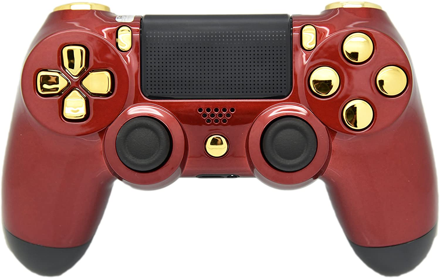 Red & GOLD PS4 Rapid Fire Modded Controller, Works With All Games, COD, Rapid Fire, Dropshot, Akimbo & More