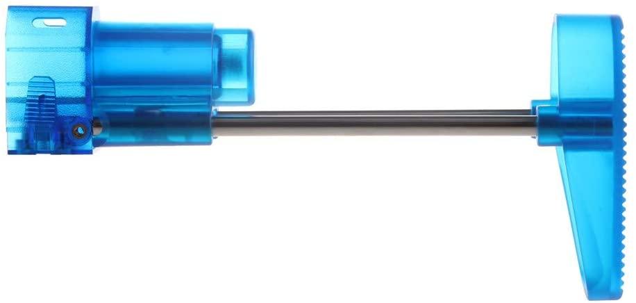 WORKER Lightweight Shoulder Stock Injection Mold for Nerf N-Strike Elite Toy Color Blue Transparent