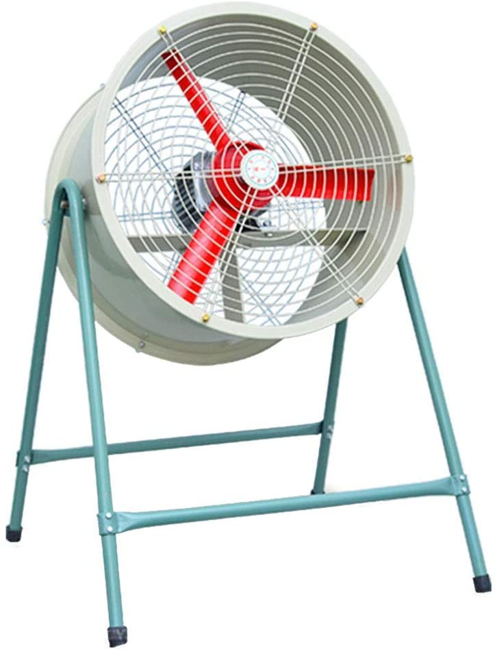 KMMK Home Electric Fan,Industrial Pedestal Fan Large Industrial Fan High Power Oscillating Cooling Quiet, Outdoor Commercial Standing Floor Fan, High Velocity Cold Air Circulator Heavy Duty,375Mm