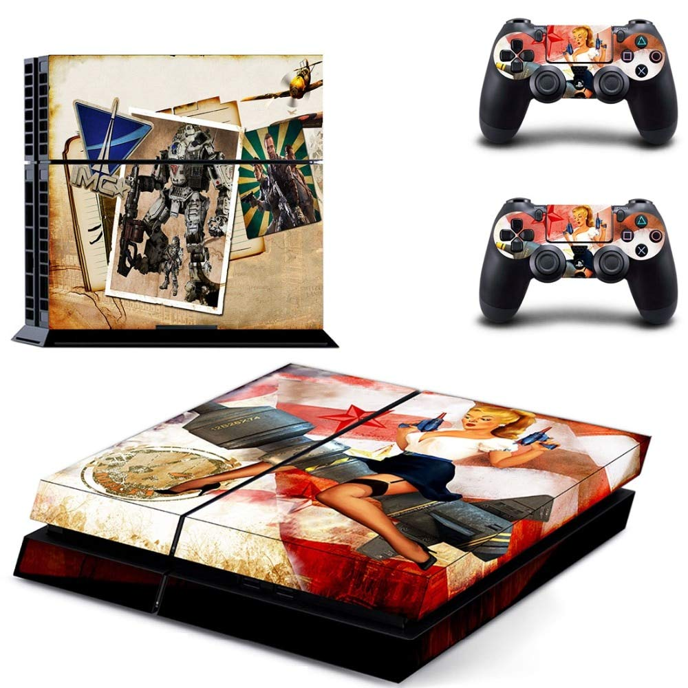 TITANFALL 2 Vinly PS4 Skin Sticker for Sony PlayStation 4 and 2 Controller Skins Decal Protective by LP Chiel