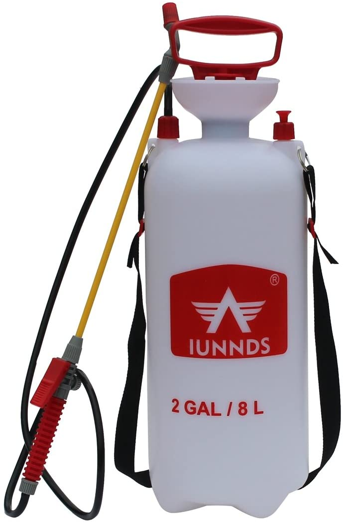 Sports God Lawn and Garden Pump Pressure Sprayer for Fertilizer, Herbicides, Pesticides, Mild Cleaning Solutions and Bleach (2 Gallon (8L))
