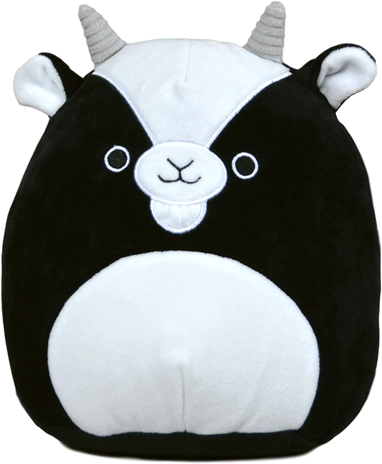 Squishmallow Kellytoy 16 Inch Gregory The Black and White Goat- Super Soft Plush Toy Animal Pillow Pal Pillow Buddy Stuffed Animal Birthday Gift Holiday