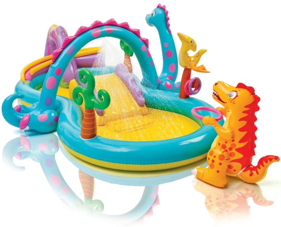 Intex Dinoland Inflatable Play Center, 119in X 90in X 44in, for Ages 2+