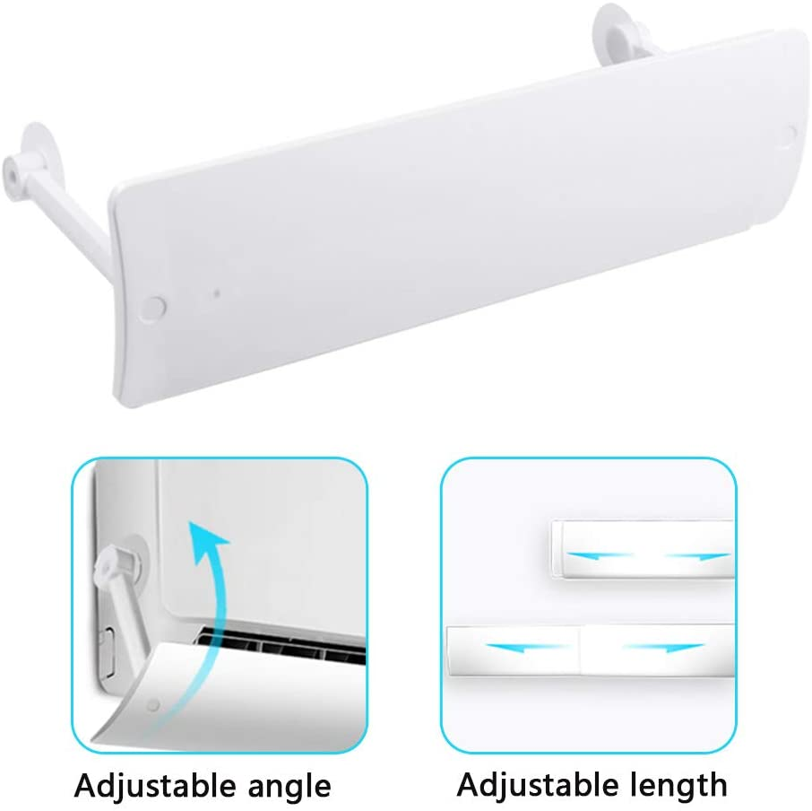 WE&ZHE Retractable Air Conditioner Deflector, Air Conditioner Wind Shield, Anti Direct Blowing Cold Wind Deflector Diaphragm,for Home/Office
