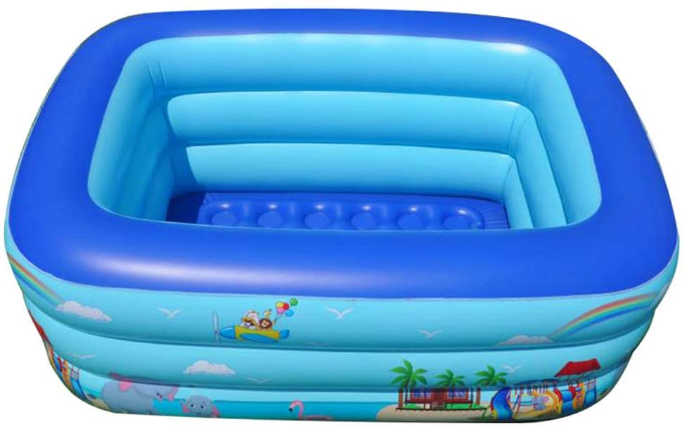swimming pool Children's Outdoor Foldable Thickening Insulation Toy Paddling Pool/Summer PVC Non-Slip Pet Toy Ocean Ball Pool/Indoor Family Game Travel Portable Inflatable Pool/Baby Bath Poo