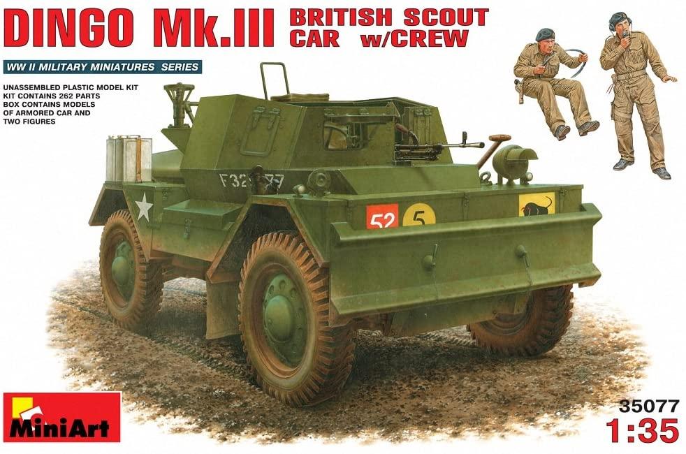 Miniart 1:35 - Dingo Mk.iiibritish Scout Car With Crew