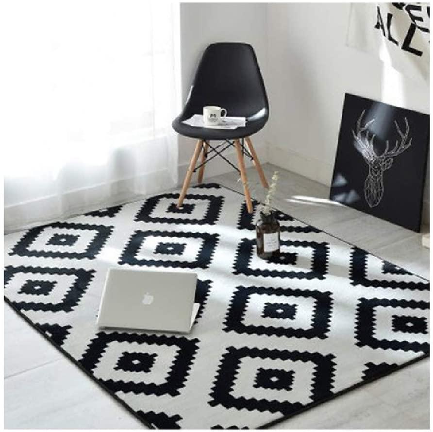 Nordic Modern Carpet Polyester Rug and Carpets for Living Room Floor Child Kids Play Mat Bedroom Bathroom Home Door Mat