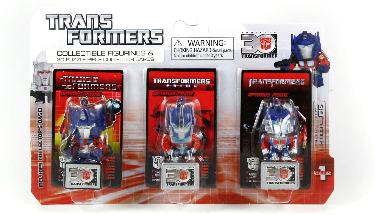 Transformers Collectible Figurines & 3D Puzzle collector cards - Optimus Prime