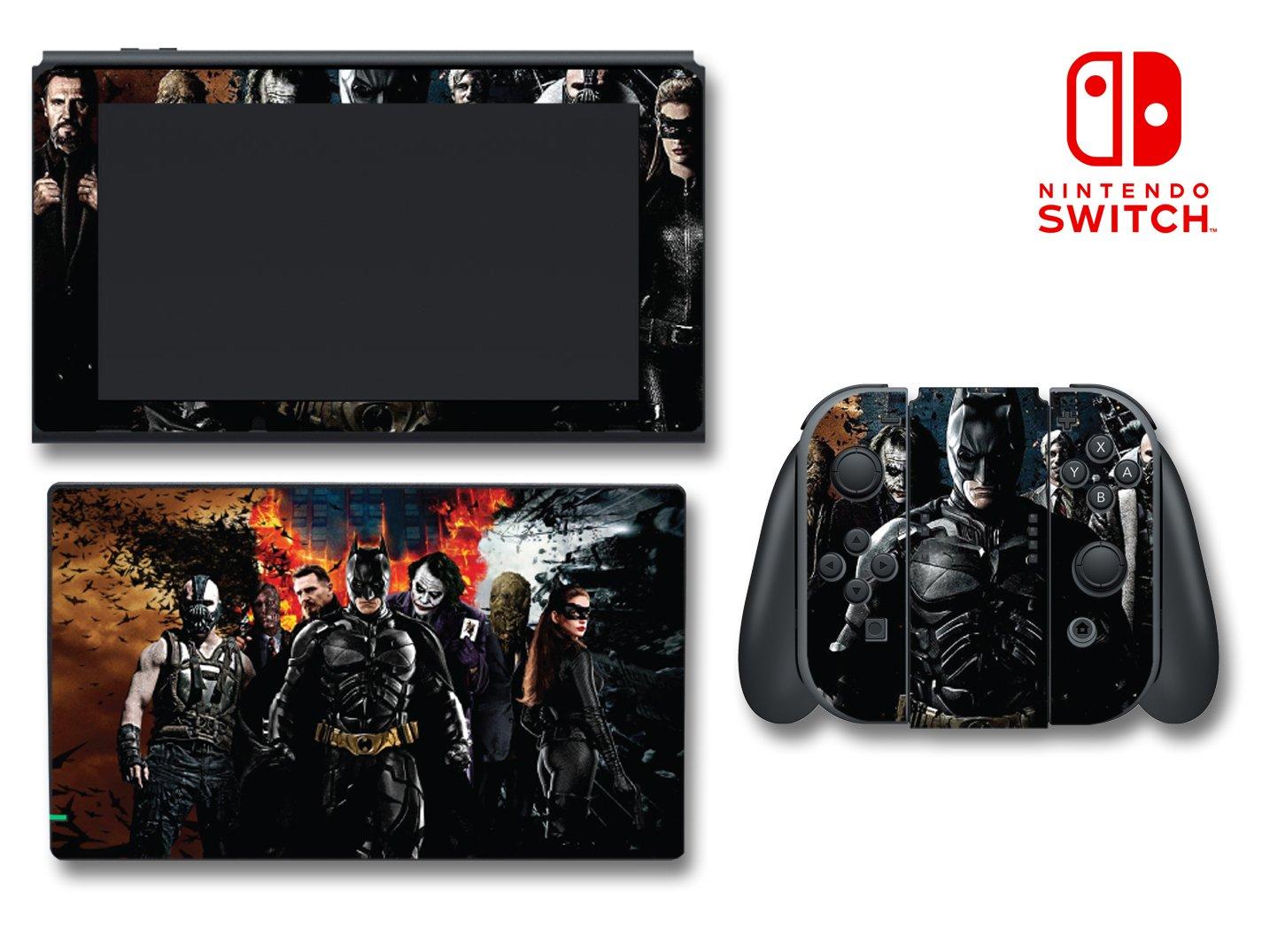 Batman The Dark Knight Rises Joker Cartoon Video Game Vinyl Decal Skin Sticker Cover for Nintendo Switch Console System
