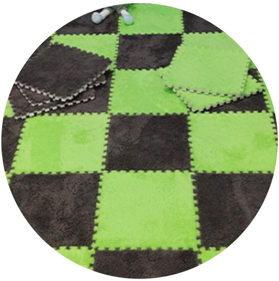 Logo XJJUN Stitching Foam Floor Mat Carpet Four Seasons Universal Bedroom Tatami Puzzle Blanket Children's Crawling Mat Bedside Cushion, 2 Sizes and 7 Colors (Color : E, Size : 30x30x0.7cm)