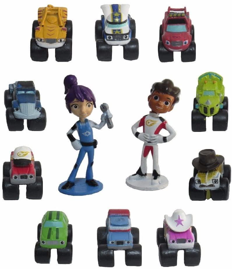 Blaze & Monster Machines Playset 12 Figure Cake Topper * USA SELLER* Toy Set