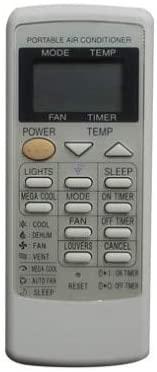 Calvas Remote Control For Sharp Calvas-A12CJ CV-P10MX CV-P12LX CRMC-A729JBEZ CV-10MH CV-P10PC CRMC-A589JBEZ Portable Air Conditioner