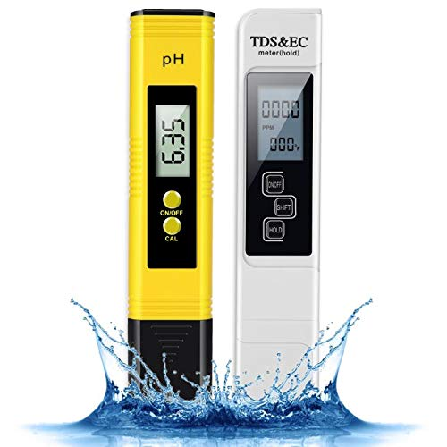 TDS and PH Meter with Calibration,Aibrisk Digital Water Quality Tester,Perfect Water Test Meter Combination for Drinking Water, Aquariums, Swimming Pools and Other Water Systems