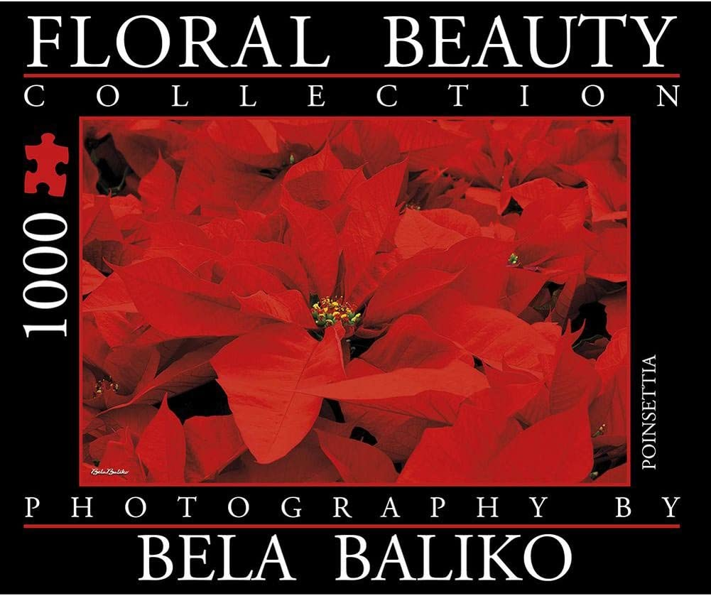Bela Baliko Floral Beauty Poinsettia 1000 Piece Puzzle by Bela Baliko Photography