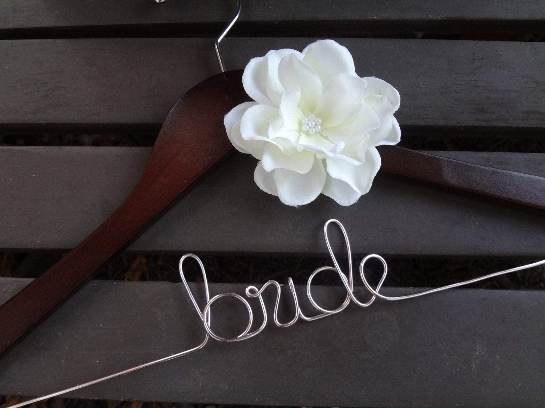 Wedding Dress Hanger Custom Bridal Hanger Personalized Hanger Bridesmaid Hangers Bride Gift Bridal Shower Engagement Wedding Day