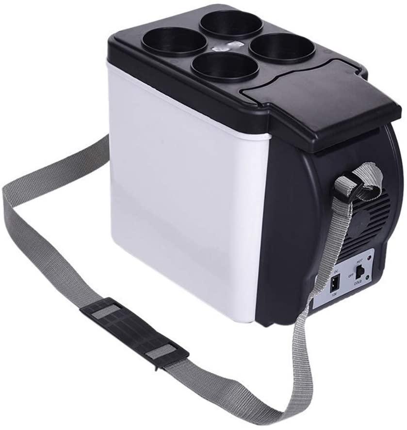 Mini Fridge 12V Portable Car Small Refrigerator Fridge Cooler & Warmer Enough Capacity, Portable Refrigerator for Home, Office, Car