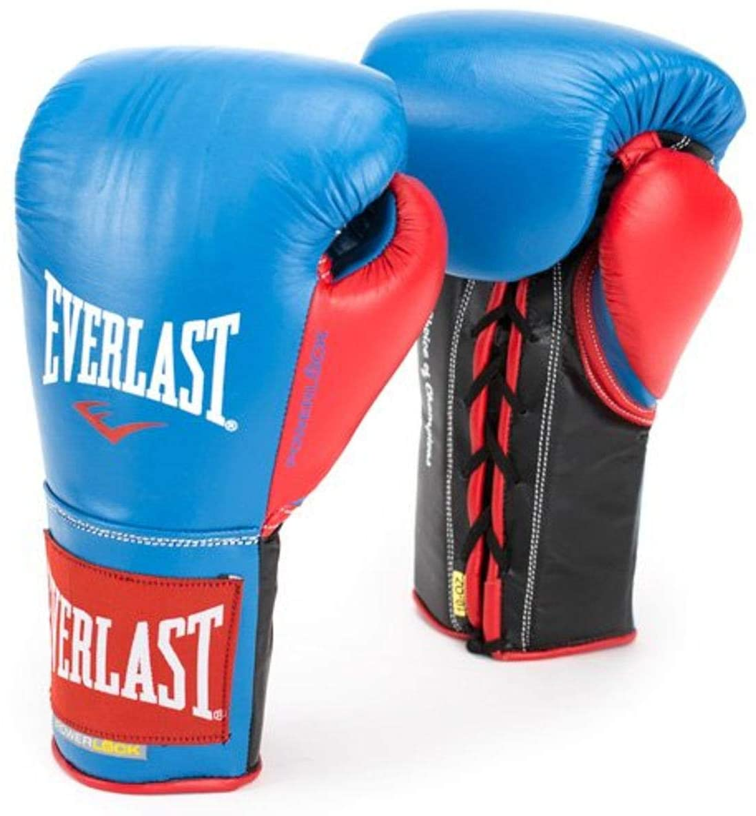 Everlast PowerLock Pro Fight Gloves 8oz Blu/Red PowerLock Pro Fight Gloves