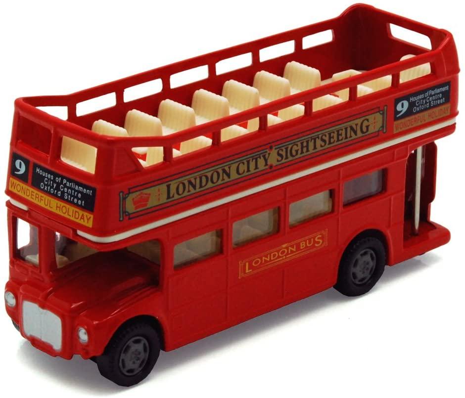 London Double Decker Bus Open Top, Red - Motormax 76008 - 4.75