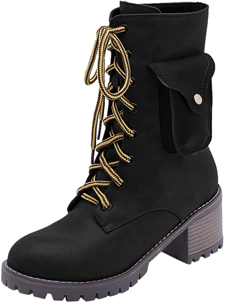 Women Warm Winter Snow Boots - Ladies Smart Battery Electric Heating Up Booties Lace-Up Shoes 40 ℃ 4 Hours