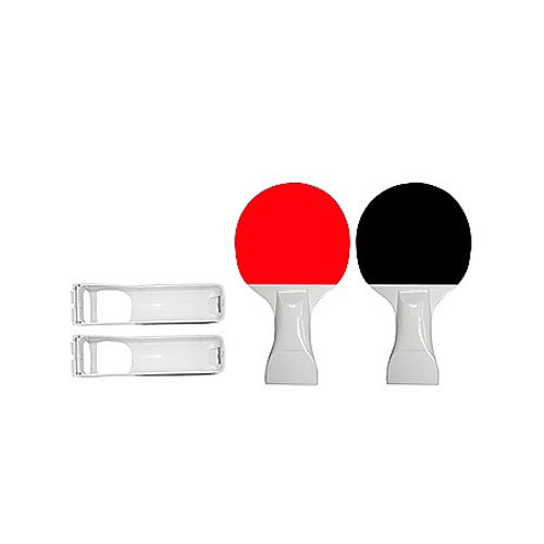2in1 Bundle Nintendo Wii Ping Pong Paddles with 2 Silicone Skin Clear