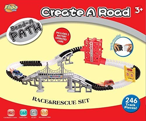 Bend A Path Race and Rescue Set (267 Pieces)