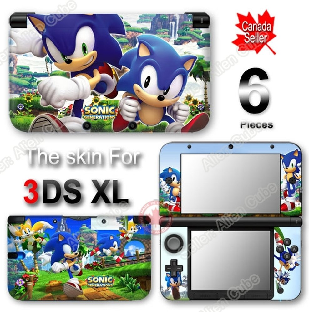 Sonic Generations SKIN VINYL STICKER DECAL COVER for Original Nintendo 3DS XL