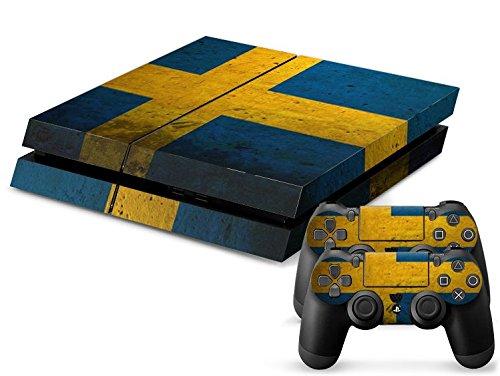 CSBC Skins Sony PS4 Design Foils Faceplate Set - Sweden Design
