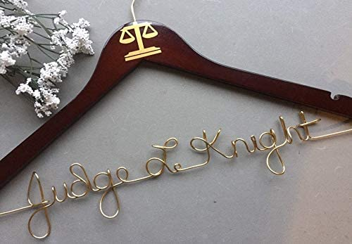 Flowershave357 Personalized Judge Hanger Newly Appointed Judge Judge Gift Judicial Judge Gift LawyerAttorney Gift Legal Law Gift