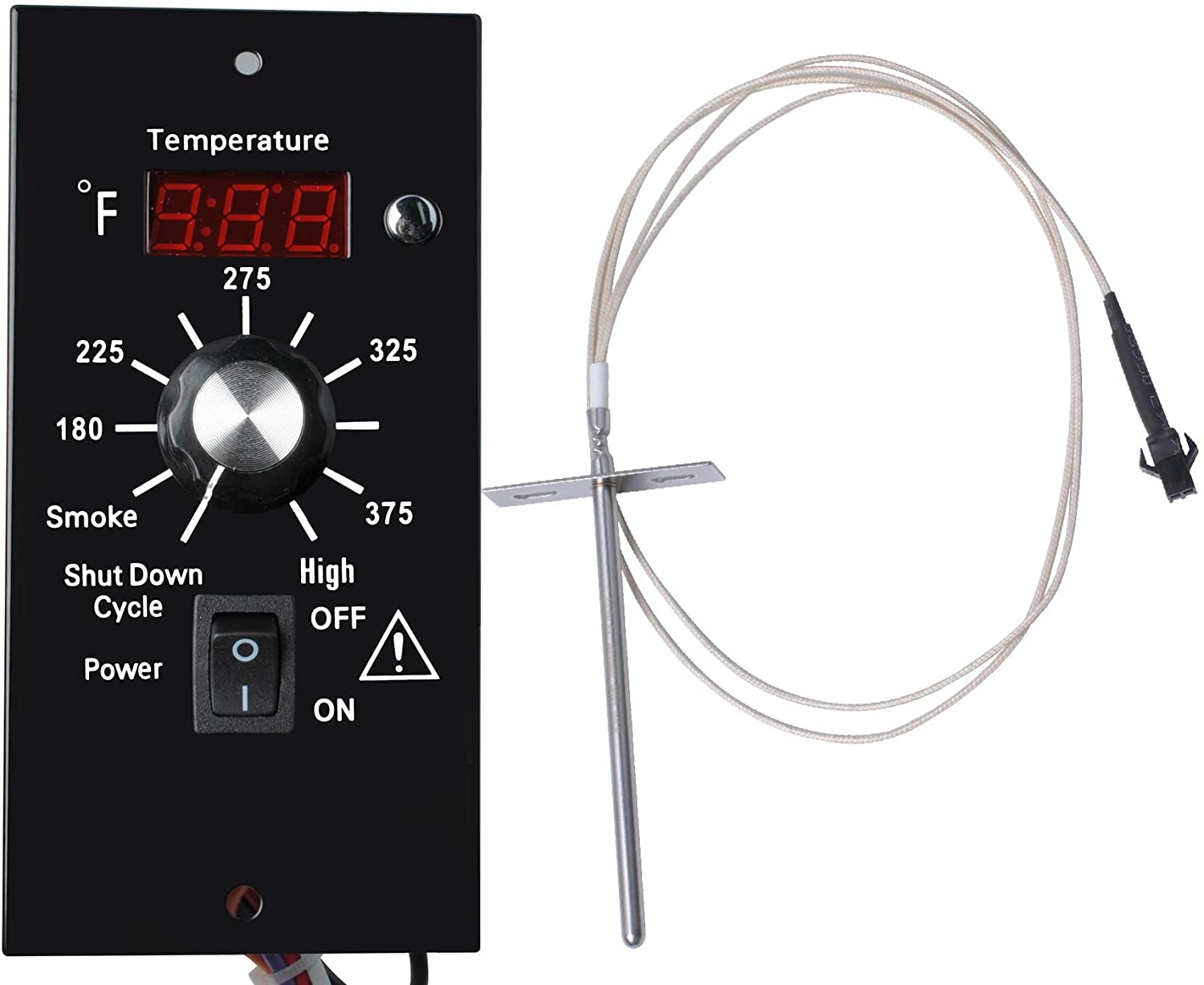 Podoy Digital Thermostat Kit for Traeger Pellet Grills, Barbecue Grill Replacement Parts with LED Display and RTD Temperature Sensor…