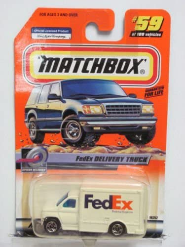 Dubblebla 2000 Matchbox Speedy DELIVERY 59 of 100 FedEx DELIVERY Truck