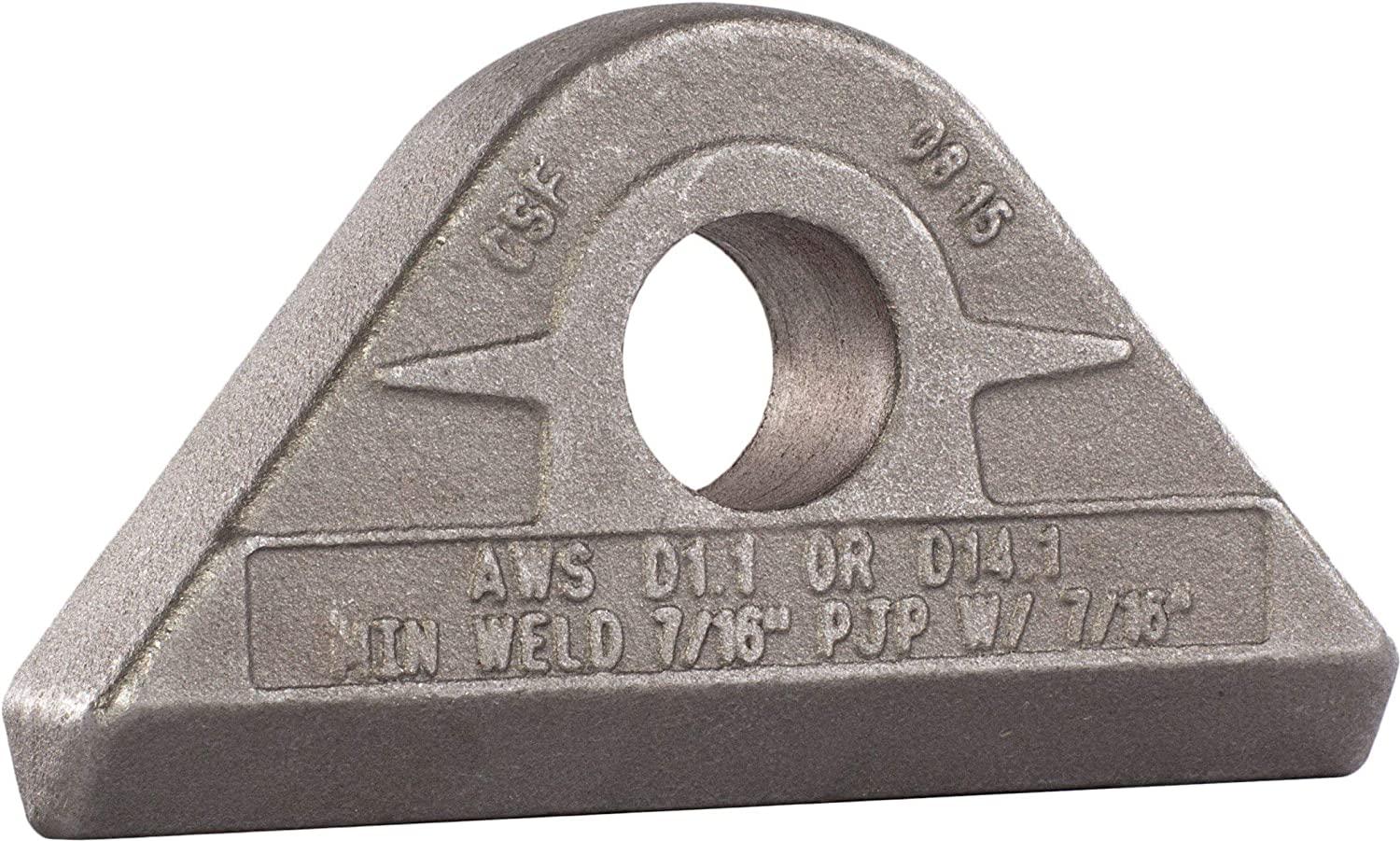 MAG-Mate PE0650 Weld-On Pad Eye, 6-1/2 Tons Working Load Limit, 13000 lb, Grey (Renewed)