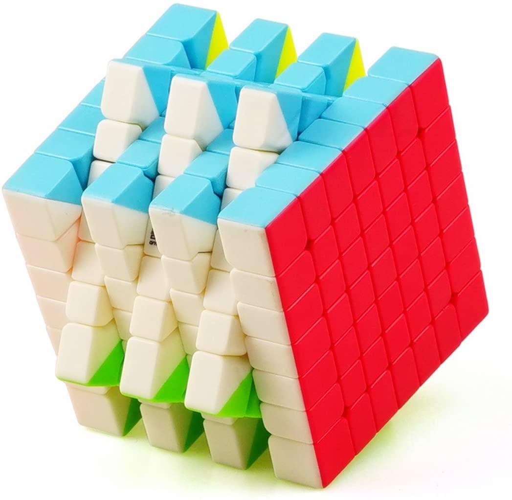 CuberSpeed QiYi QiXing S 7x7 Stickerless Bright Magic Cube MoFangGe MFG QiXing S Color Speed Cube