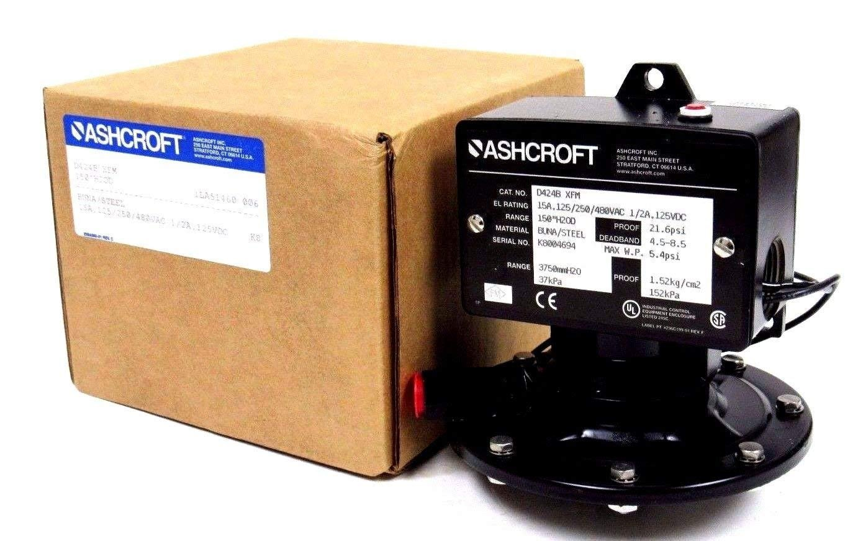 ASHCROFT D424B Single SETPOINT, 21.6 PSI, SPDT OR DPDT, NEMA 4X/IP 66, 15-100 Percent Adjustment, Differential Pressure Switch