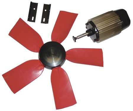 Exhaust Fan Kit, 24 in Dia, 6400 CFM, 120 V