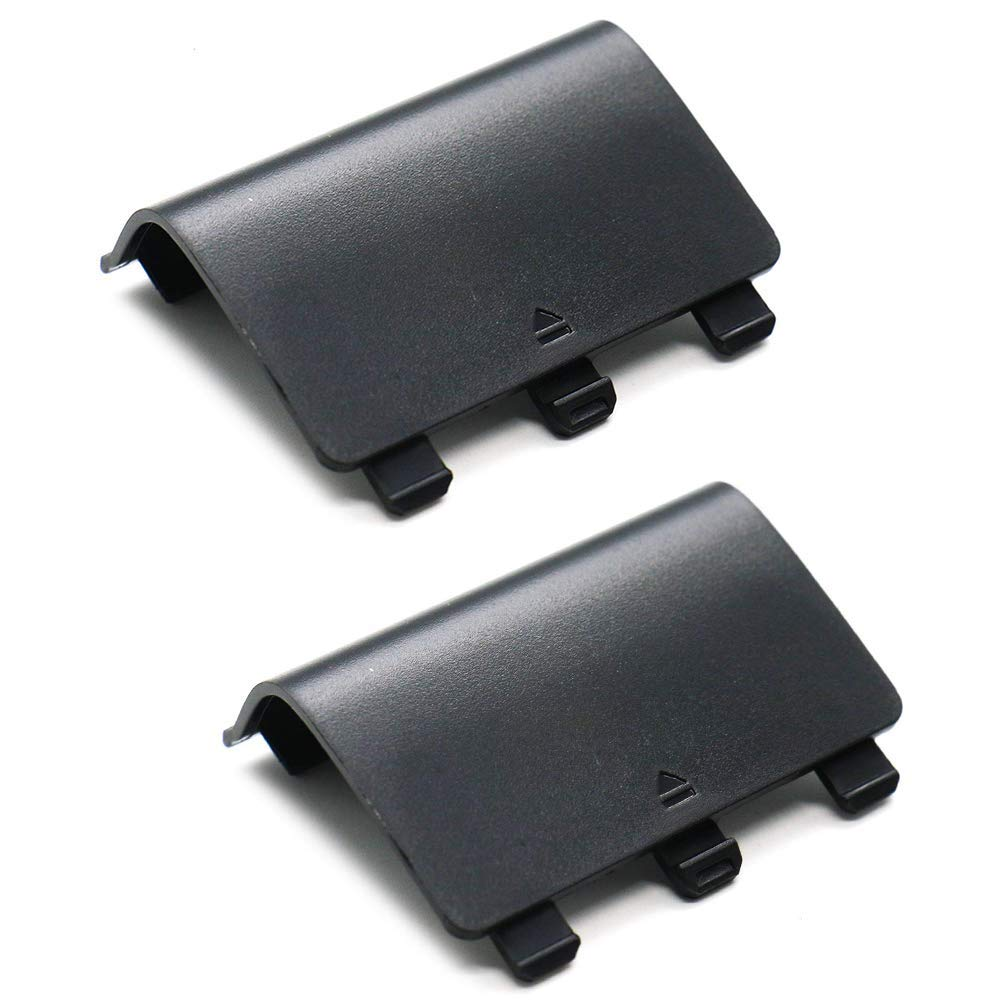 Wiresmith 2X 2-Pack Black Replacement Battery Cover Shell for Xbox One Controller