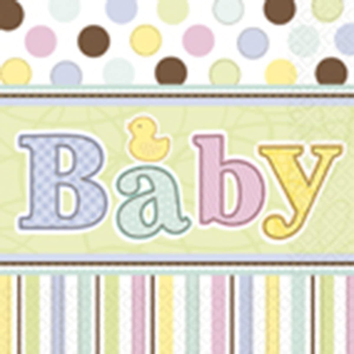 Baby Shower 'Tiny Bundle' Large Napkins (36ct)