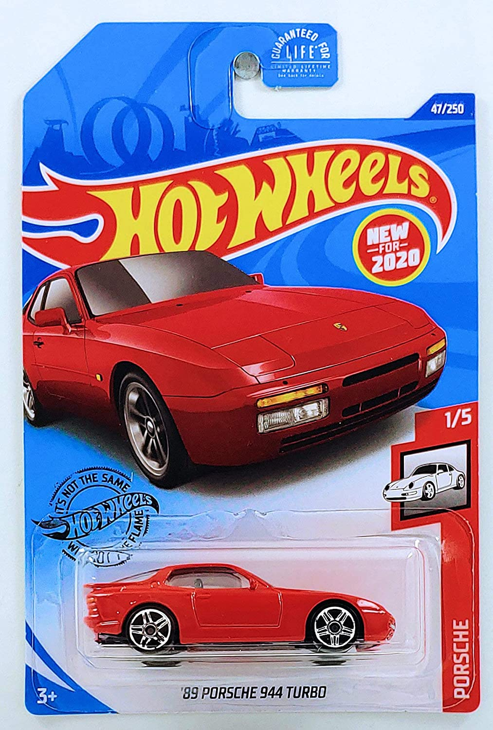 Hot Wheels 2020 Porsche Series '89 Porsche 944 Turbo 47/250, Red