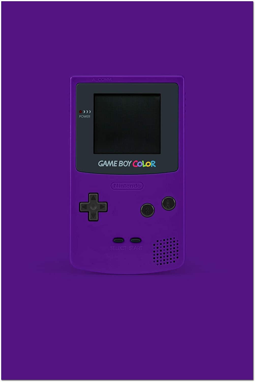 JP London Retro Handheld Nintendo Gameboy Purple 11in by 17in Satin Finish Art Print, Multi
