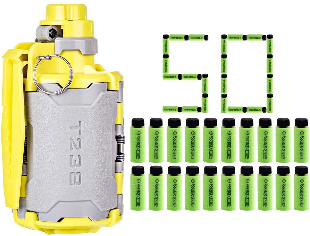 FenglinTech Grenade with Bullets for Nerf, Large Capacity Foam Bullet Ball Hand Grenade for CS Nerf Battle Game - (Green )