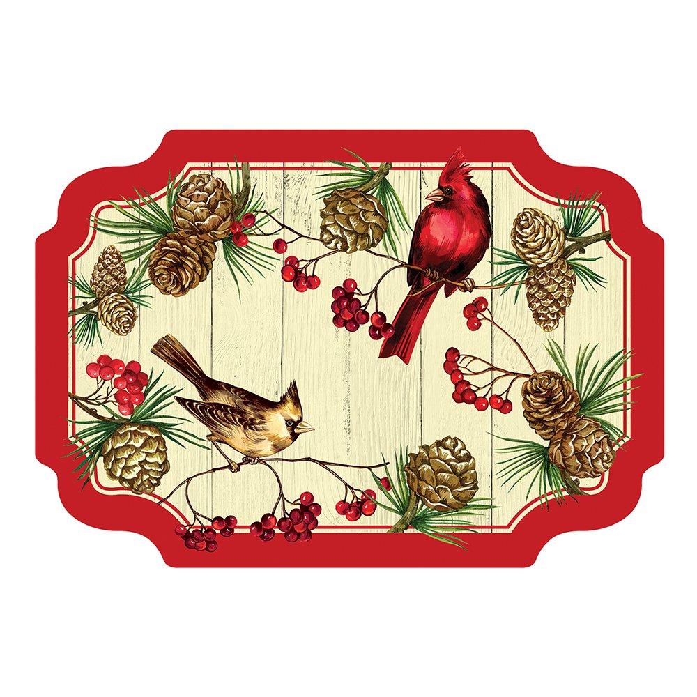 Hoffmaster 311152 Winter Cardinal Paper Placemat, 9.75