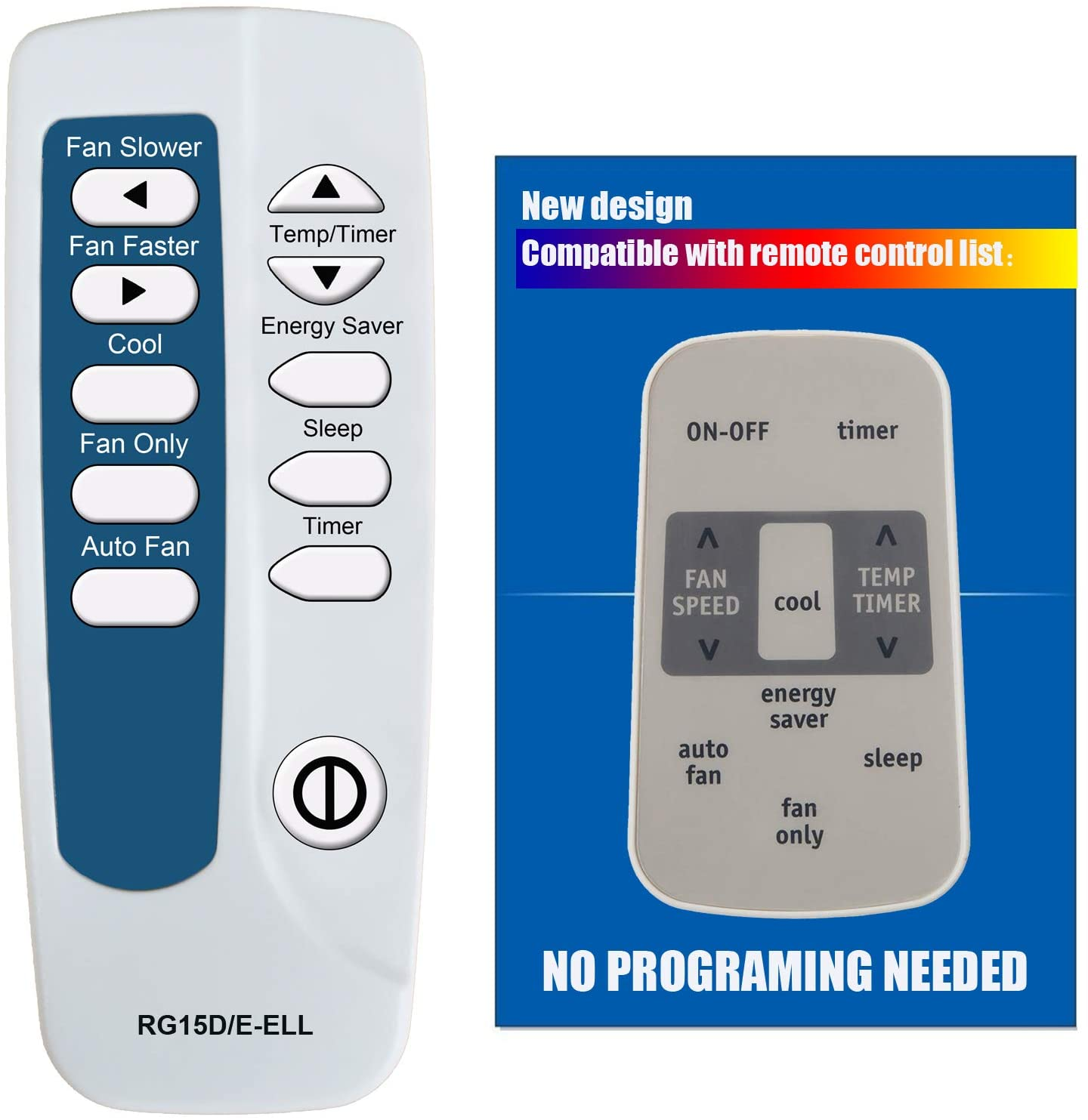 Replacement for Frigidaire Air Conditioner Remote Control Model Number RG15D/E-ELL RG15D/E-ELL1